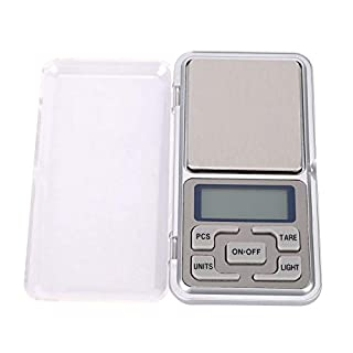 Mini Portable Kitchen Scale,Gram Scale Digital Pocket Scale - High Accuracy 0.01g with Back-Lit for Food,Jewelry,diamond,Coffee,Tea
