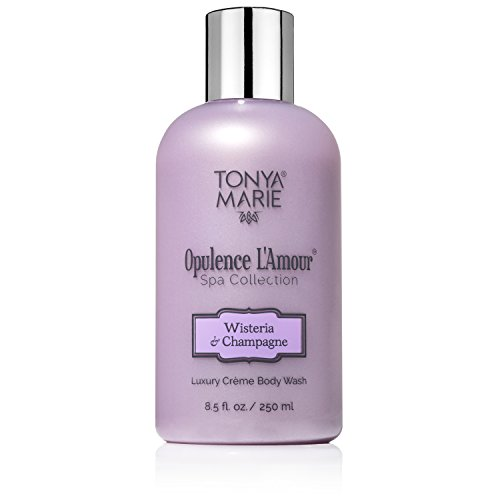 Soft Soap. Body Wash for Women. Moisturizing Perfumed Bath Wash. Scented Liquid Body & Hand Soap For Dry Skin | Opulence L'Amour Wisteria & Champagne by Tonya Marie | A Luxury | 8.5 fl oz