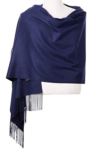 Dress Cashmere Womens (Womens Pashmina Shawl Wrap Scarf - Ohayomi Solid Color Cashmere Stole Extra Large 78