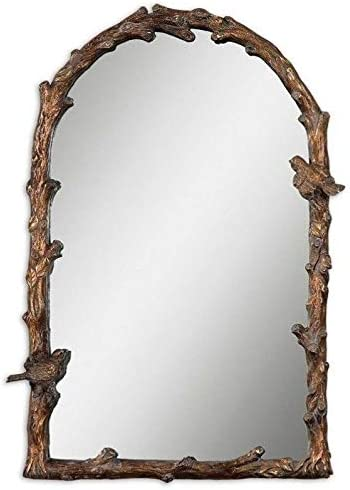 Uttermost Paza Arch Mirror in Distressed Antique Gold