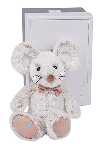 Histoire d ours peluche de ratón Gris, grise, blanche, blanc, multicolore