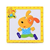 AMOFINY Baby Toys Kids Wooden Wood Animal Cognition Puzzle Numbers Learning Educational Toy