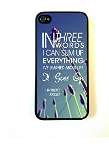 iPhone 5 Case ThinShell Case Protective iPhone 5 Case Robert Frost Quote It Goes On