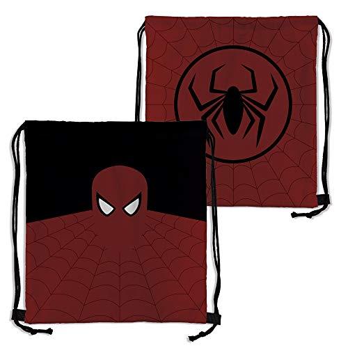 Lolapix Mochila Saco Personalizada Spiderman con Nombre. Superheroes. Friki. Varios diseños.: Amazon.es: Hogar