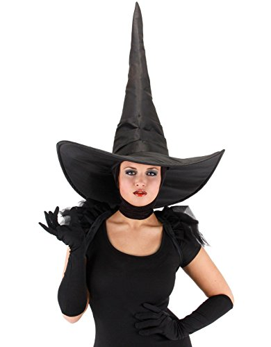 elope Wicked Witch Deluxe Hat, Black, One (Adult Witch)