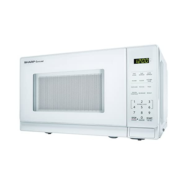 Sharp Microwaves ZSMC0710BW Sharp 700W Countertop Microwave Oven, 0.7 Cubic Foot, White 3