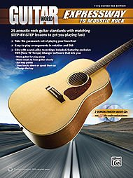 (Alfred Guitar World - Expressway to Acoustic Rock Easy Guitar TAB Book & 2 CDs)