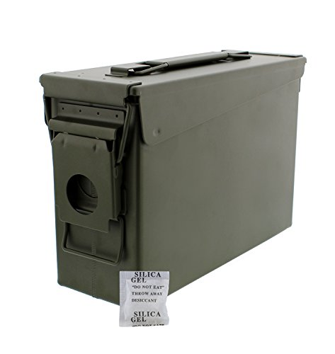 Review 30 Cal Metal Ammo Case Can – Military and Army Solid Steel Holder Box for Long-Term Shotgun Rifle Nerf Gun Ammo Storage