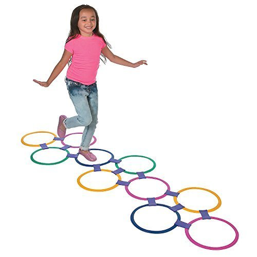 Plastic Hopscotch Outdoor Ring Game - 25 piece set by (Hopscotch Game)