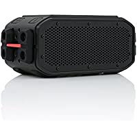 BRAVEN BRV-PRO Portable Wireless Bluetooth Speaker [30 Hours][Waterproof] Built-In 2200 mAh Power Bank Charger - Black / Red