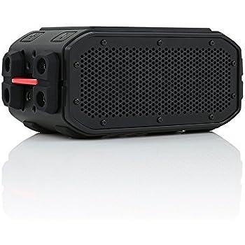 BRAVEN BRV-PRO Portable Wireless Bluetooth Speaker [30 Hours][Waterproof] Built-In 2200 mAh Power Bank Charger - Black / Red