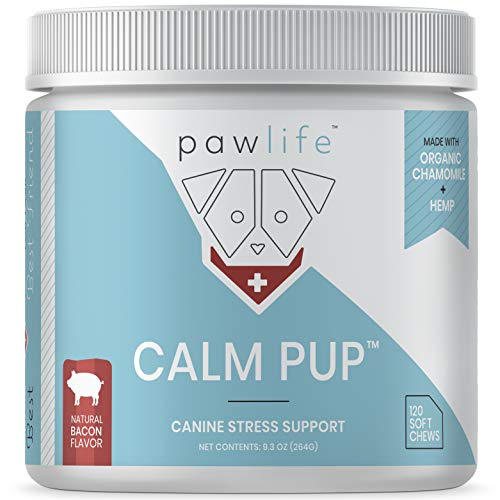 pawlife Calming Treats for Dogs - Hemp Oil Infused Soft Chews for Dog Anxiety Support- 120 Dog Calming Treats (Bacon) by pawlife