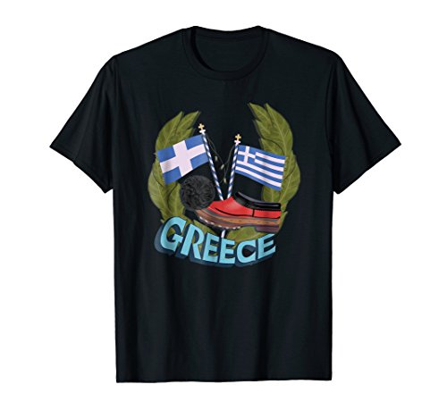 Greek traditional costume shoes - Tsarouchi t shirt for $<!--$18.00-->