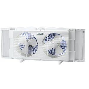 Amazon Com Lasko Twin Window Fan 2137 Home Amp Kitchen