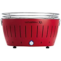 435 Lotusgrill Lotusgrill rot Edelstahl Stahl Kunststoff kleiner Camping Balkon Picknick ✔ rund ✔ tragbar rauchfrei ✔ Grillen mit Holzkohle ✔ für den Tisch
