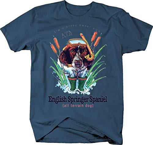 Proud Owner of a English Springer Spaniel Dog All Terrain Tshirt - Medium