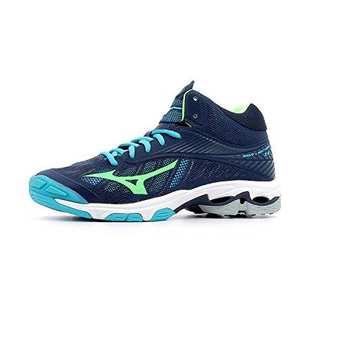 vert Scarpe Gecko Da Bleu Z4 bleu Wave Turquoise Pallavolo Mizuno Uomo Mid Marine Lightning