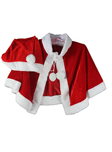 Tankoo Adult Mrs Santa Claus Dress Cappa With Hat Womens Christmas Costume Red (Mrs Claus Dresses)