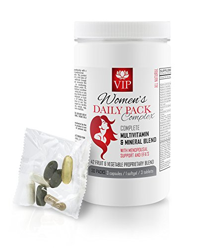 Menopause relief supplements - WOMEN'S DAILY PACK COMPLEX - Black cohosh extract - 1 Bottle (30 Daily Packs) by VIP Supplements