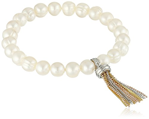 Honora Bronze Freshwater Cultured Pearl with Tassel Stretch Bracelet