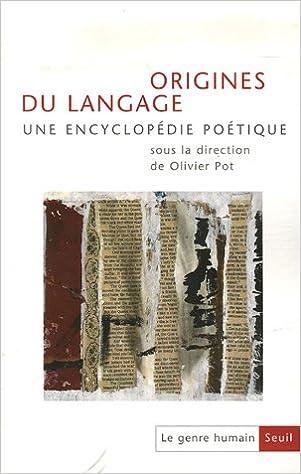 Livre gratuits en ligne Le genre humain, N° 45/46 : Origines du langage epub pdf