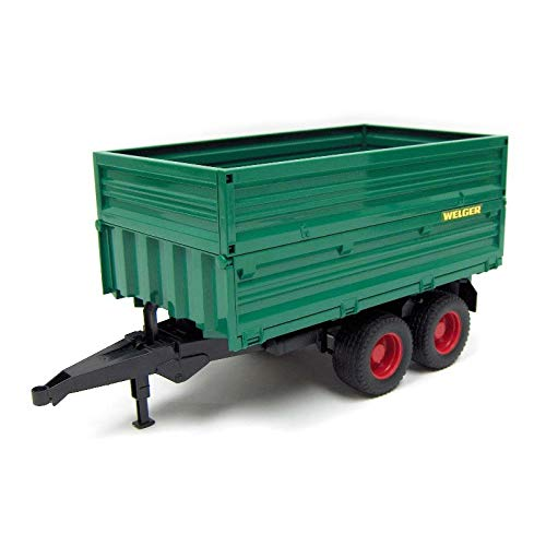 Double axel tipping trailer removable top