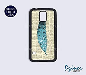 Galaxy S5 Case - Newspaper Feather