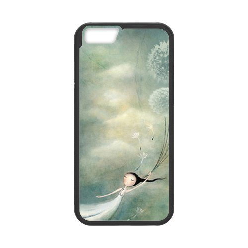 """SYYCH Phone case Of Girl and Dandelion Cover Case For iPhone 6 Plus (5.5"""")"""