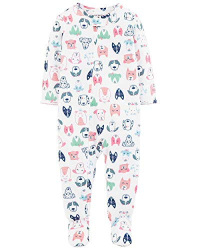 Carters Dog Pajamas - Carter's Baby Girls' 1-Piece Snug Fit Cotton Pajamas (3T, Dog Print)