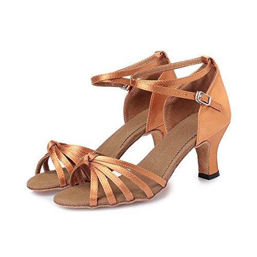 Dimensione Scarpe con Evening da latino 38 Scarpe scarpe basso Sandalo tacco amp; raso da Colore XUE UN in donna Party ballo wHvqgHPx