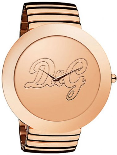 Dolce & Gabbana Women's ROCKABILLY DW0282 Gold Gold Tone Analog Quartz Watch with Gold Dial