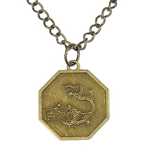 Style ARThouse Year of The Dragon, Chinese Zodiac Octagonal Pendant on Chain; 18 Inches Adjustable (Year Zodiac Dragon)
