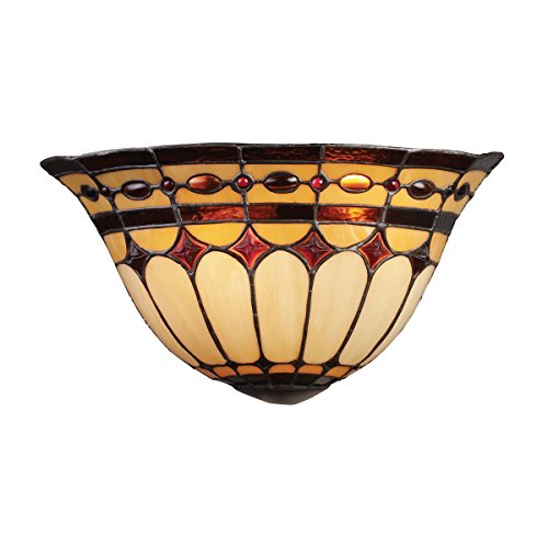 ELK LIGHTING 08032-BC Diamond Ring 2 Light Wall Sconce In Burnished Copper ()