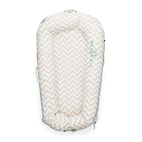 DockATot Deluxe+ Dock (Silver Lining) - The All in One Baby Lounger - Perfect for Co Sleeping - Suitable from 0-8 Months