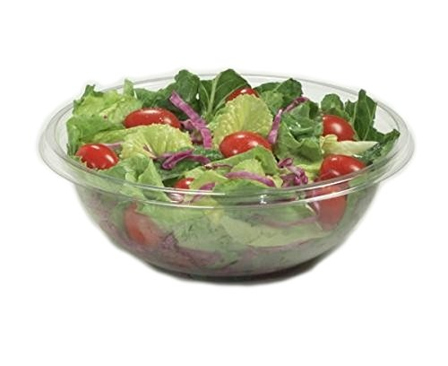 Clear Plastic Salad Bowls with lids 1500cc - Pack of 6 Partyrama 3267-ESST-2