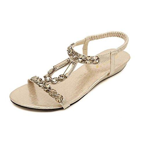 Sandales Bohême Femme Binying Style Or mvnN80w