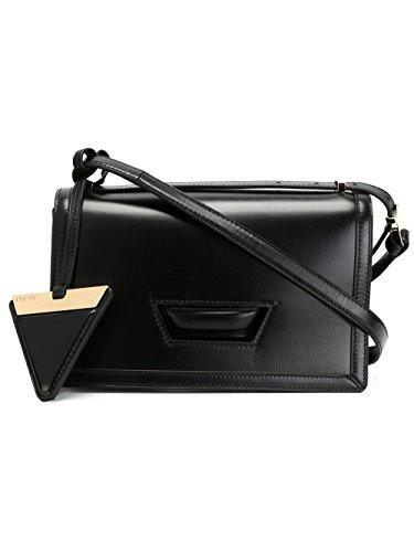 loewe-womens-30274m151100-black-leather-shoulder-bag