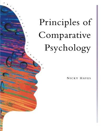Principles Of Comparative Psychology (Principles of Psychology) (Volume 19)