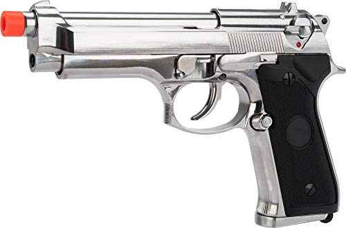- Evike Matrix Elite Tokyo Marui Reproduction M9 Gas Blowback Airsoft GBB Pistol (Color: Silver/Full Metal)