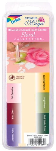 Delta Stencil Paint Cremes Variety Pack Floral Colors