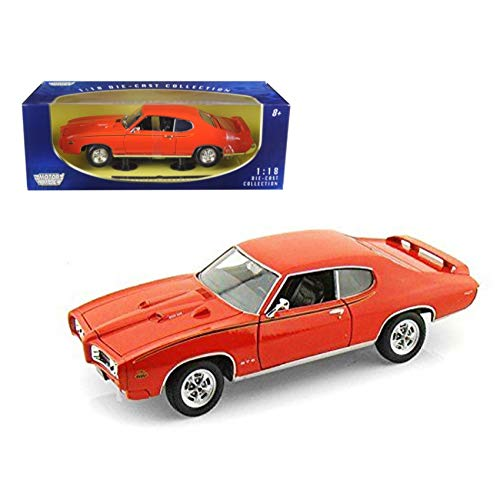 73133AC/OR Motormax 7g1rvrhy970 Premium American - Pontiac GTO Judge Hard Top (1969, 1/18 scale diecast model car, Orange) 73133 ipj3cos1yh diecast car model 1969 pontiac - Judge Hardtop Gto Pontiac