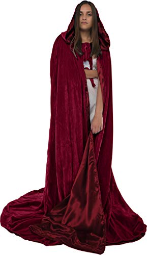 Artemisia Designs Velvet Renaissance Medieval Cloak Cape Lined with Satin -