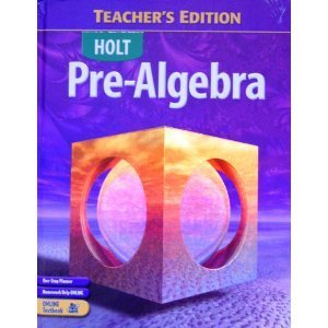 Pre-Algebra, Teachers Edition