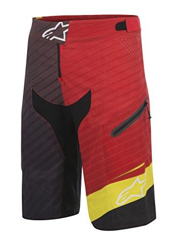 Alpinestars Men's Depth Shorts, Red Acid/Yellow Black, Size 34