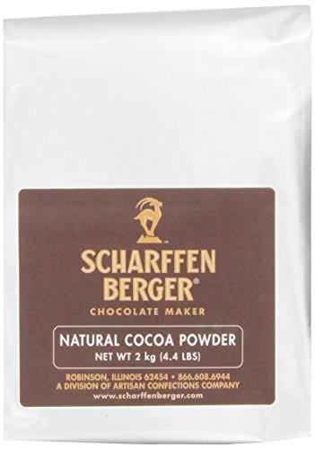 Scharffen Berger naturel non sucré cacao en poudre, 4,4 livres (2 kg) Forfait