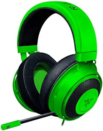 Razer Kraken Gaming Headset: Lightweight Aluminum Frame - Retractable Cardioid Mic - For PC, PS4, Nintendo Switch - 3.5 mm Headphone Jack - Green