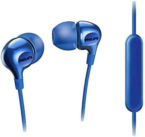 Buy Philips Big Bass in Ear Headphones with Mic - Blue (SHE3555BL/27)