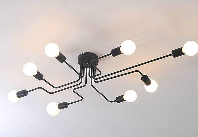 Plafoniera Ferro Battuto Nero : Vampsky plafoniera lampadario vintage luci montaggio