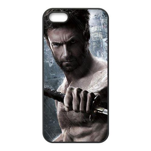 901 Wolverine Ii L coque iPhone 5 5S cellulaire cas coque de téléphone cas téléphone cellulaire noir couvercle EOKXLLNCD21234