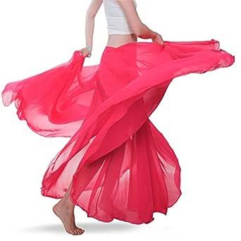 Royal smeela mujeres del vientre Danza Falda ATS gasa Maxi Full ...
